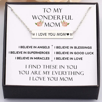 Gnj19003 - My Wonderful Mom, You Are My Everything - Bar Necklace