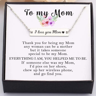 Gnj19004 - Everything I Am, You Helped Me To Be - Bar Necklace