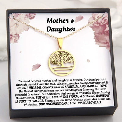 Gnn19002 - The Bond Between Mother And Daughter Is Forever - Tree Of Life Necklace