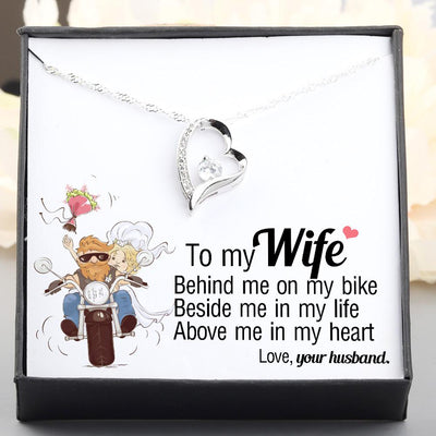 Heart Necklace - From Biker Husband to his Wife - Behind me on my bike  - Gnr15011
