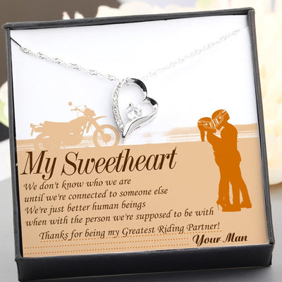 Heart Necklace - From Biker to his Girlfriend or Wife - Thanks for being my Greatest Riding Partner - Gnr15023