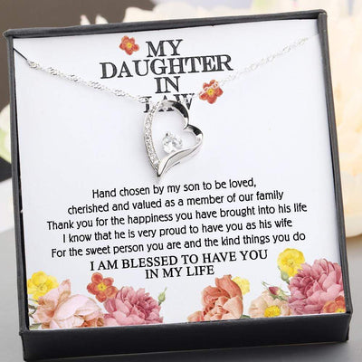 Heart Necklace - To My Daughter-In-Law - I Am Blessed To Have You In My Life - Gnr17004