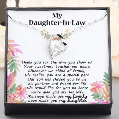 Heart Necklace - To My Daughter-In-Law - Thank You For The Love You Show Us - Gnr17014