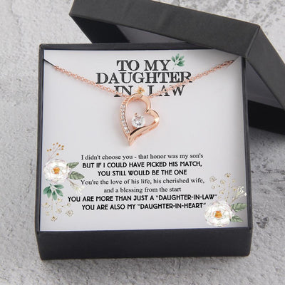 "Heart Necklace - To My Daughter-In-Law - You Are Also My ""Daughter-In-Heart"" - Gnr17005"