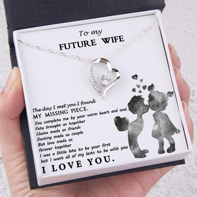 Heart Necklace - To My Future Wife - Love Made Us Forever Together - Gnr25020