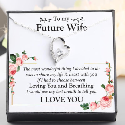 Heart Necklace - To My Future Wife - The Most Wonderful Thing I Decided - Gnr25011