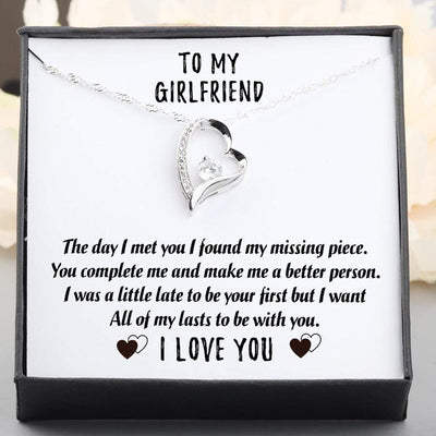 Heart Necklace - To My Girlfriend - All Of My Lasts To Be With You - Gnr13003