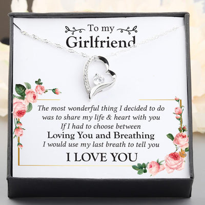 Heart Necklace - To My Girlfriend - The Most Wonderful Thing I Decided - Gnr13010