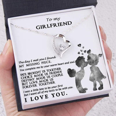 Heart Necklace - To My Girlfriend - You Complete Me By Your Warm Heart - Gnr13005