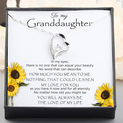 Heart Necklace - To My Granddaughter - I Will Always Be The Love Of My Life - Gnr23003