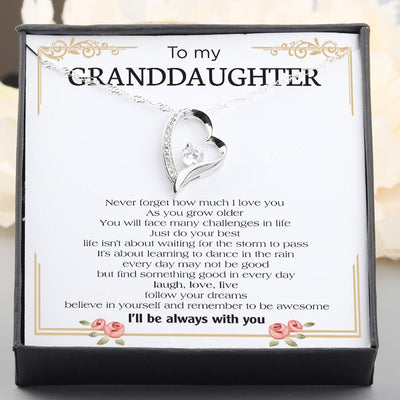Heart Necklace - To My Granddaughter - Never Forget How Much I Love You - Gnr23002