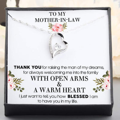 Heart Necklace - To My Mother-In-Law - From Daughter-In-Law - Thank You For Raising The Man Of My Dreams - Gnr19007