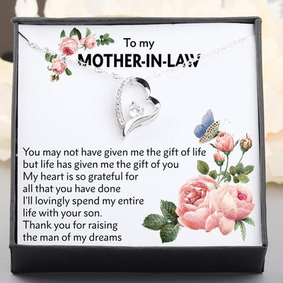 Heart Necklace - To My Mother-In-Law - Thank You For Raising The Man Of My Dreams - Gnr19003