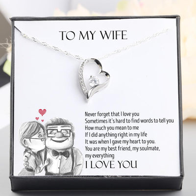 Heart Necklace - To My Wife - Never Forget That I Love You - Gnr15003