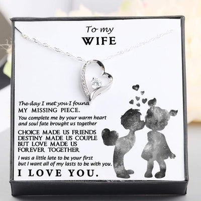 Heart Necklace - To My Wife - You Complete Me By Your Warm Heart - Gnr15004