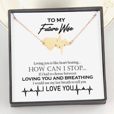 Heartbeat Necklace - To My Future Wife - Loving You Is Like Heart Beating - Gnm25006