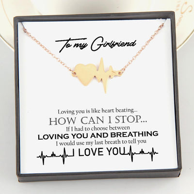 Heartbeat Necklace - To My Girlfriend - Loving You Is Like Heart Beating - Gnm13008