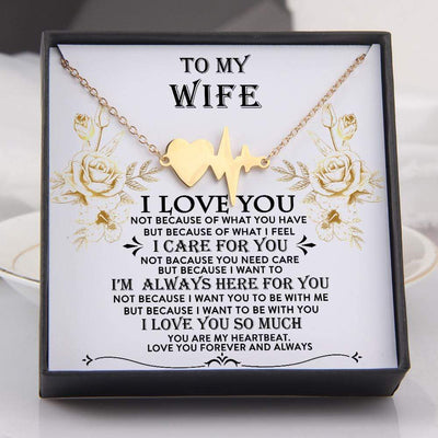 Heartbeat Necklace - To My Wife - I'm Always Here For You - Gnm15004