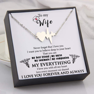 Heartbeat Necklace - To My Wife - Never Forget That I Love You - Gnm15007