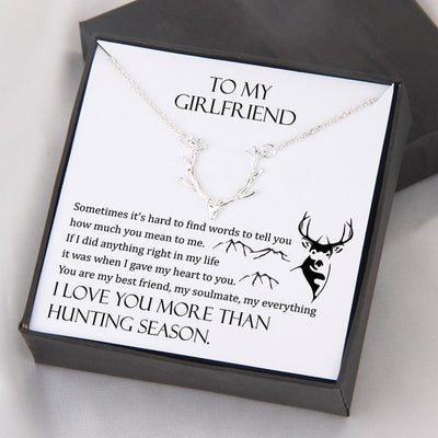Hunter Necklace - My Girlfriend - I Love You More Than Hunting Season - Gnt13005