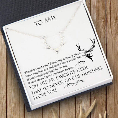 Hunter Necklace - To My Girlfriend - You Are My Favorite Deer - Gnt13003
