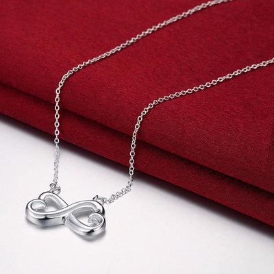 Infinity Heart Necklace - I Cross My Heart - Heart Message - Gna15011