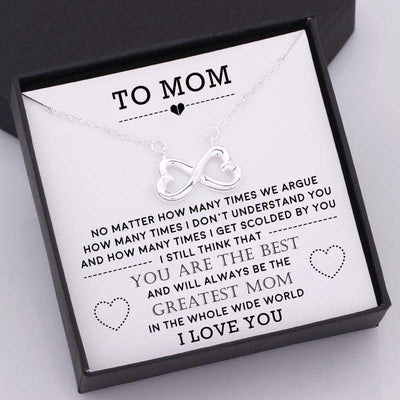Infinity Heart Necklace - To Mom - You Are The Best Greatest Mom - Gna19007