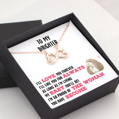 Infinity Heart Necklace - To My Daughter - I'll Love You Forever - Gna17010