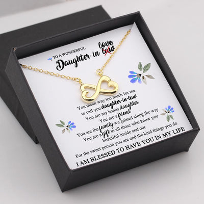 Infinity Heart Necklace - To My Daughter-In-Law - You Are My Bonus Daughter - Gna17021