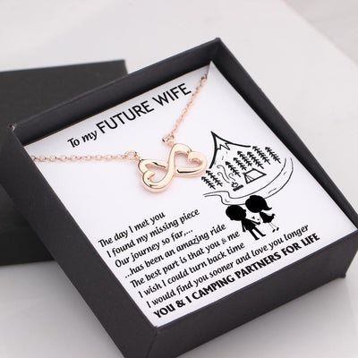 Infinity Heart Necklace - To My Future Wife - The Best Part Is That You And Me - Gna25025