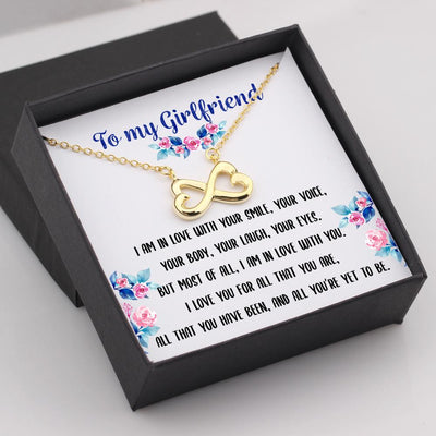 Infinity Heart Necklace - To My Girlfriend, I Love You For All That You Are - Gna13017