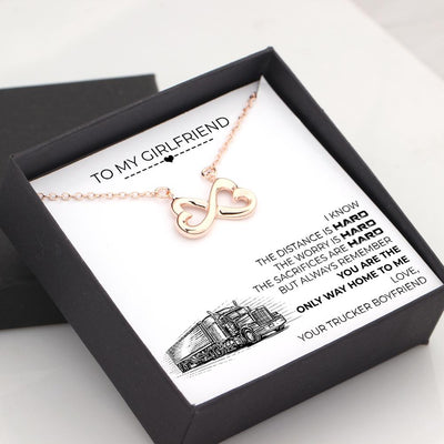 Infinity Heart Necklace - To My Girlfriend - You Are The Only Way Home To Me - Gna13040