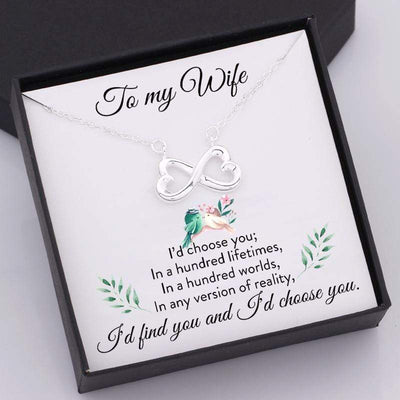 Infinity Heart Necklace - To My Wife - Hundred Lifetimes - Gna15006