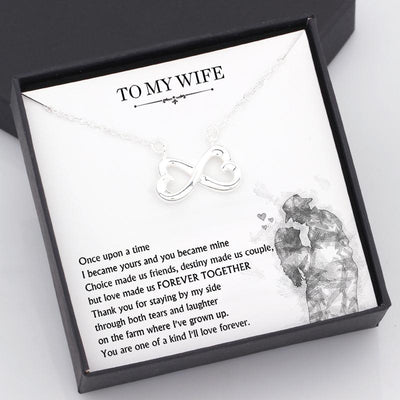 Infinity Heart Necklace - To My Wife - Thank You For Staying By My Side Through Both Tears And Laughter - Gna15038