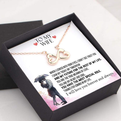 Infinity Heart Necklace - To My Wife - Thanks For Coming In My Life - Gna15022