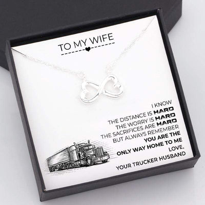 Infinity Heart Necklace - To My Wife -  You Are The Only Way Home To Me - Gna15041