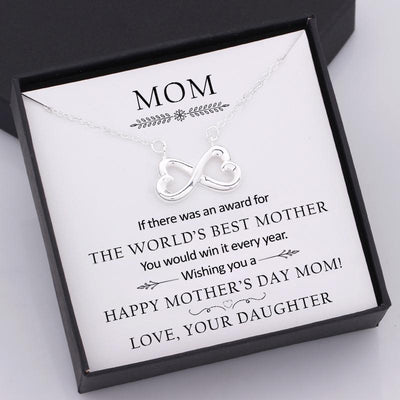 Infinity Heart Necklace - Wishing You A Happy Mother's Day Mom - Gna19010