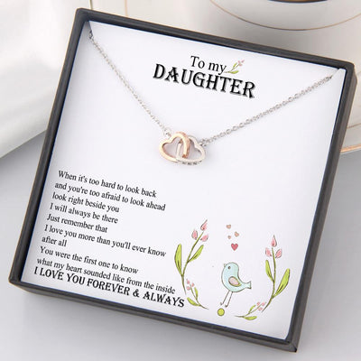 Interlocked Heart Necklace - To My Daughter - I Love You Forever And Always - Gnp17016