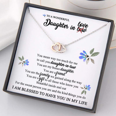Interlocked Heart Necklace - To My Daughter-In-Law - You Are My Bonus Daughter - Gnp17012