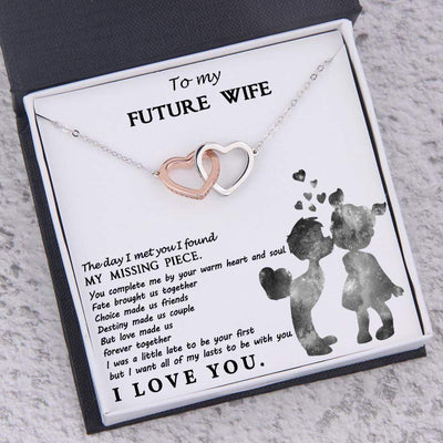 Interlocked Heart Necklace - To My Future Wife - Love Made Us Forever Together - Gnp25039