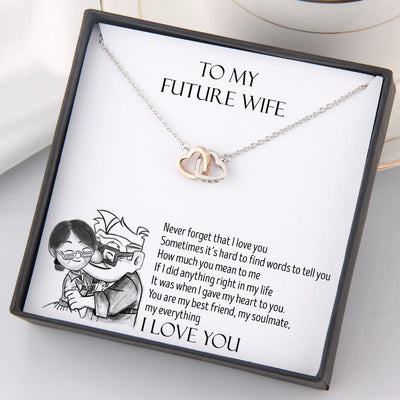 Interlocked Heart Necklace - To My Future Wife - You Are My Everything - Gnp25016 Interlocked Heart Necklace PetLoveGift