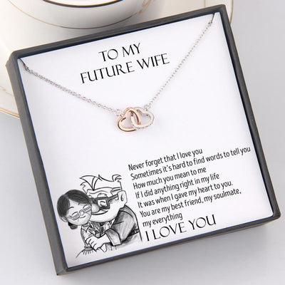 Interlocked Heart Necklace - To My Future Wife - You Are My Everything - Gnp25016