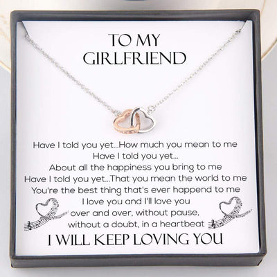 Interlocked Heart Necklace - To My Girlfriend - Have I Told You Yet - Gnp13022