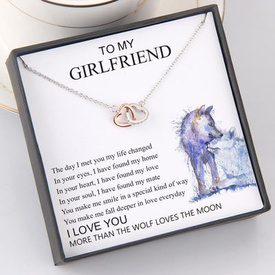 Interlocked Heart Necklace - To My Girlfriend - In Your Soul, I Have Found My Mate - Gnp13035