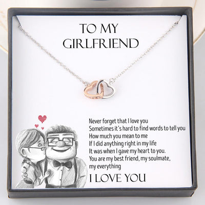 Interlocked Heart Necklace - To My Girlfriend - Never Forget That I Love You - Gnp13014