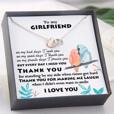 Interlocked Heart Necklace - To My Girlfriend - Thank You For Making Me Laugh - Gnp13001