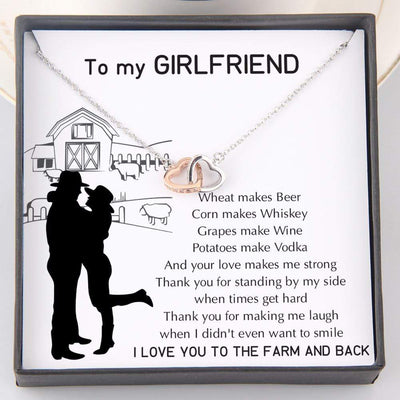 Interlocked Heart Necklace - To My Girlfriend - Wheat Makes Beer - Gnp13029