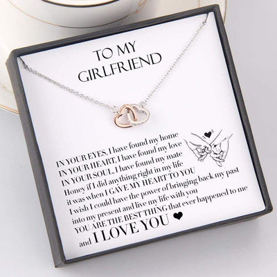 Interlocked Heart Necklace - To My Girlfriend - You Are The Best Thing - Gnp13007