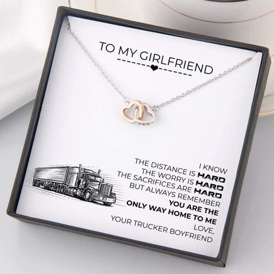 Interlocked Heart Necklace - To My Girlfriend - You Are The Only Way Home To Me - Gnp13030