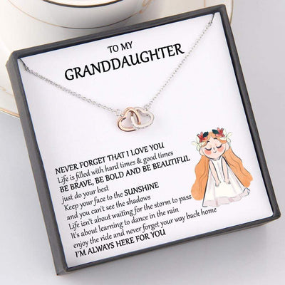Interlocked Heart Necklace - To My Granddaughter - I'm Always Here For You - Gnp23002